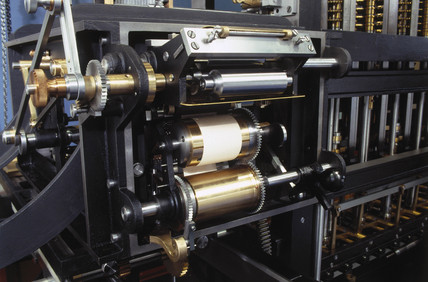Inking and hardcopy apparatus for Babbage's Difference Engine No 2, 2000.