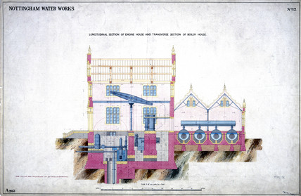 Nottingham Water Works, 1856.