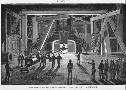 'The Great Steam Hammer, Royal Gun Factory, Woolwich', 1896.