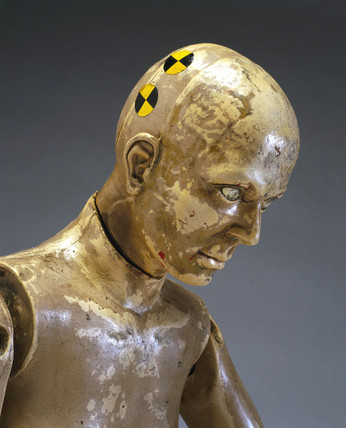 Crash test dummy on show in Making the Modern World gallery (credit: Science Museum / Science & Society)