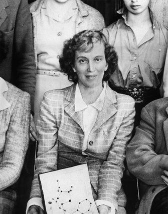 Profesor Dorothy Mary Hodgkin, c 1940s.
