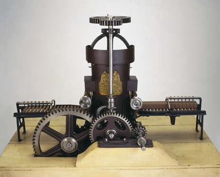 Clayton's brick-making machine, 1860.