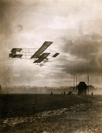 'Mr Gibbs Making an Evening Flight', 1910.