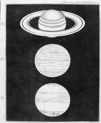 Saturn's rings, 1793.