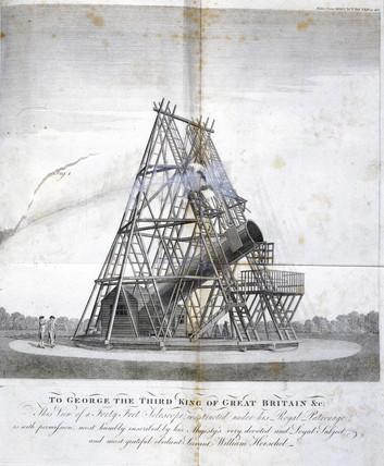 Herschel's forty-foot reflecting telescope, 1795.