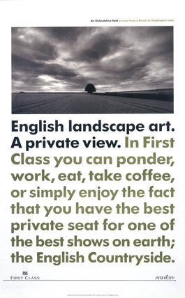 'English Landscape Art - A Private View', BR poster, 1990.