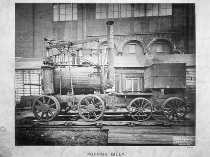 'Puffing Billy', 1876.