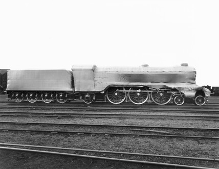 'Flying Scotsman' sheeted down at Doncaster Works, 1 March 1924.