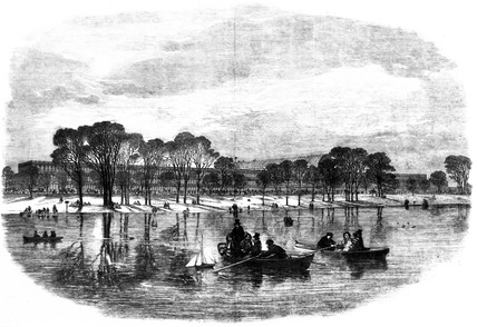 The Crystal Palace from the Serpentine, Hyde Park, London, 1851.