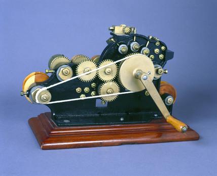 Ticket numbering machine, 1877.