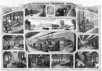 Royal Small Arms Factory, Enfield, London, 1861.