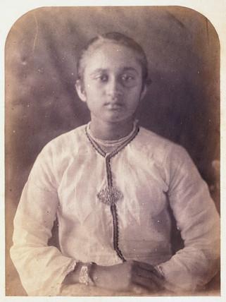 Young woman, Ceylon, c 1875.