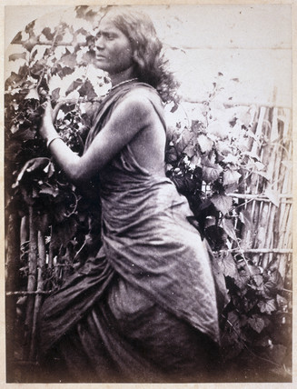 Young Ceylonese woman plantation worker, c 1875-1878.
