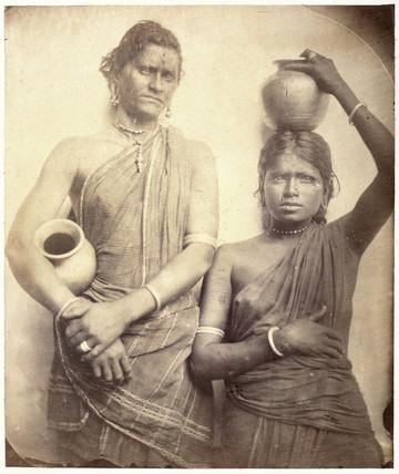 Two Ceylonese women, c 1875-1878.