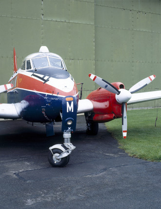 De Havilland DH 104 Devon aircraft, Wroughton, Wiltshire, 1986.