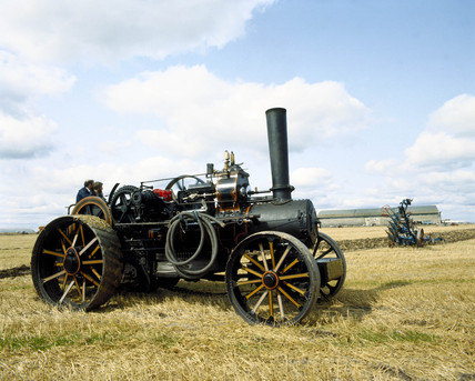 Fowler BB1, cable ploughing engine, 1918.