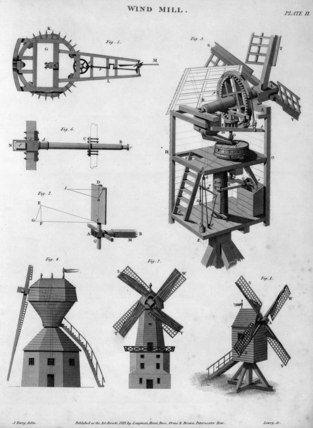 Windmill, c 1816.