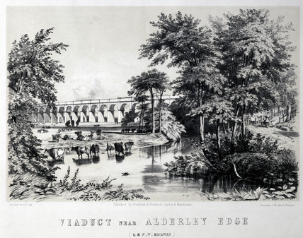 'Viaduct near Alderley Edge', Cheshire, London & North Western Railway, 1848.