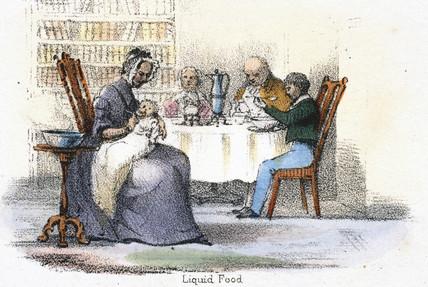 'Liquid food', c 1845.