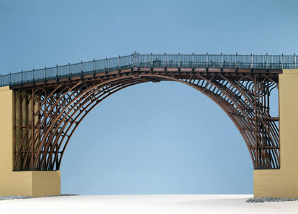 Model of Iron Bridge, Coalbrookdale, Shropshire, 1779.