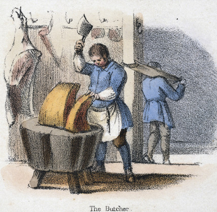 'The Butcher', c 1845.