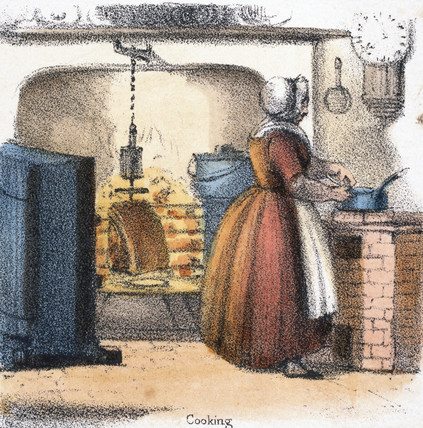 'Cooking', c 1845.
