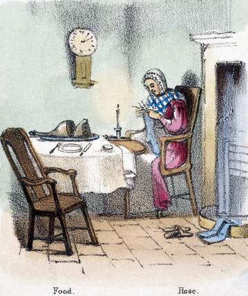 'Food, Hose', c 1845.