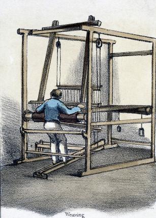 'Weaving', c 1845.