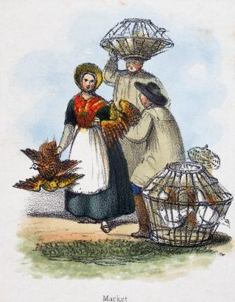 'Market', c 1845.