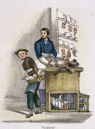 'Poulterer', c 1845.
