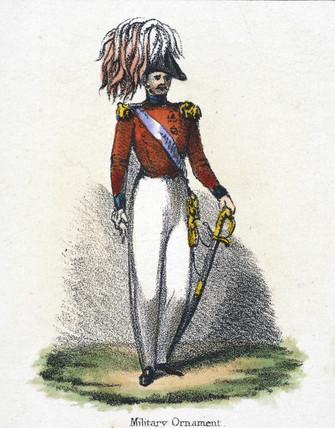 'Military Ornament', c 1845.