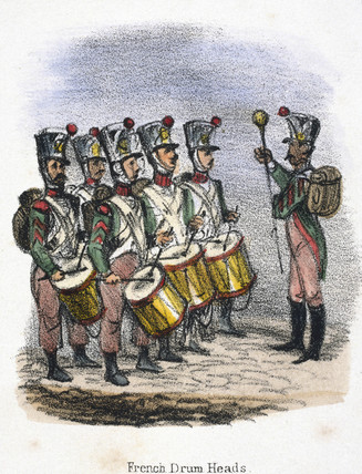 'French Drum Heads', c 1845.