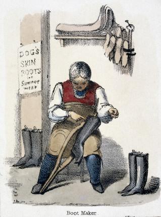 'Boot Maker', c 1845.