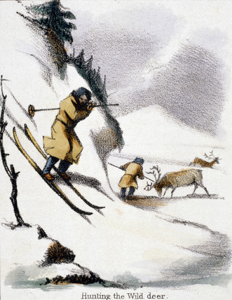 'Hunting the Wild Deer', c 1845.