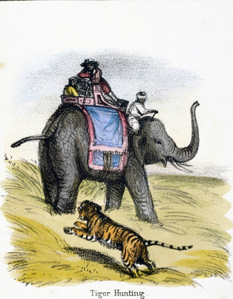 'Tiger Hunting', c 1845.