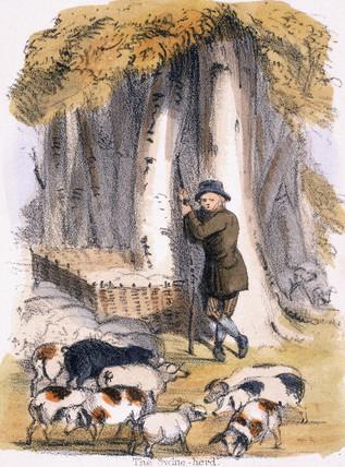 'The Swine Herd', c 1845.