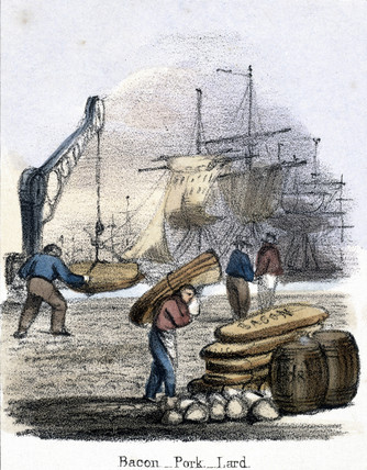 'Bacon, Pork, Lard', 1845.