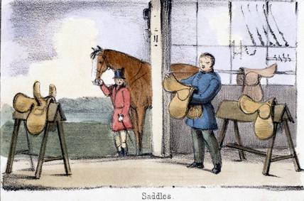 'Saddles', c 1845.