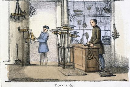 'Brooms', c 1845.