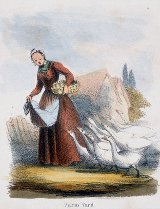 'Farm Yard', c 1845.
