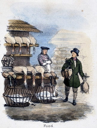 'Food', c 1845.