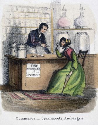 'Commerce - Spermaceti, Ambergris', c 1845.
