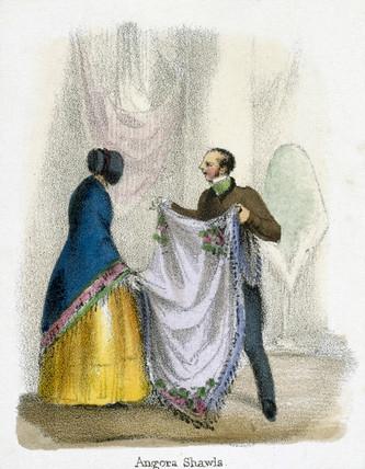 'Angora Shawls', c 1845.