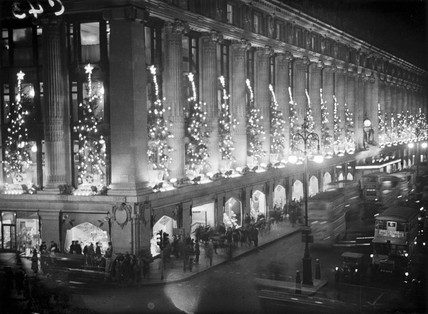 Christmas lights at Selfridges, 15 December 1932.
