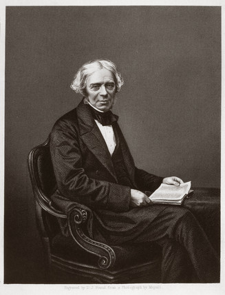 Michael Faraday , English chemist and physicist, c 1860s.