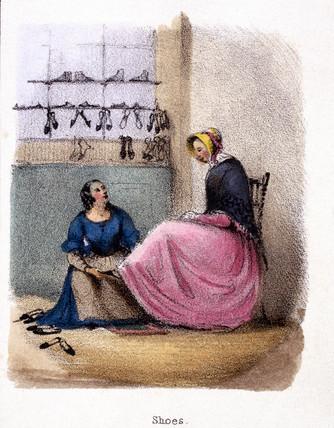 'Shoes', c 1845.