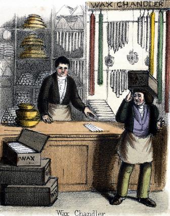 'Wax Chandler', 1845.