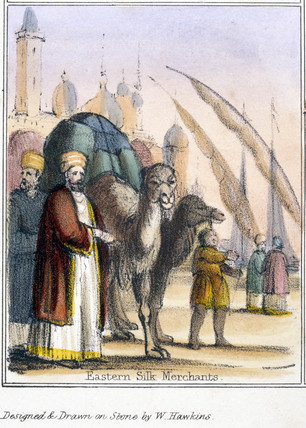 'Eastern Silk Merchants', c 1845.