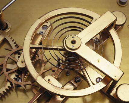 Lever escapement, c 1650.
