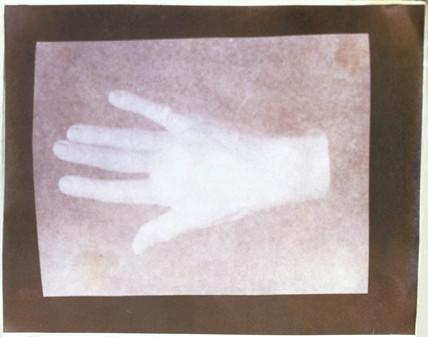 A human hand, c 1841.  Salted paper print b